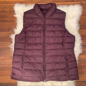 Gap Factory Purple Quilted Puffy Vest Sz Large